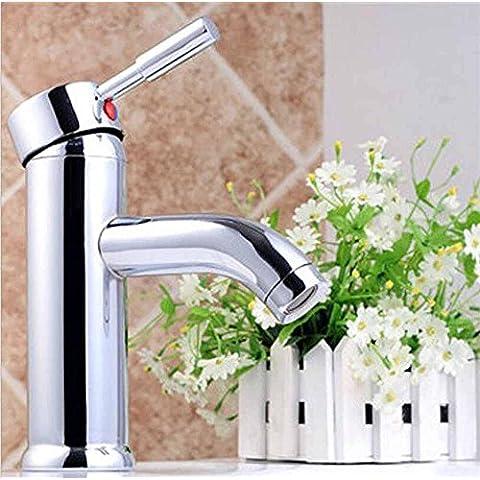 uzi-continental simple baño grifo, grifos de agua caliente y fría de mezcla de acero inoxidable y cristal), Single tipo Manual Ones