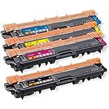 Original Brother Toner Set (TN-242BK TN-242C TN-242M TN-242Y) für Brother DCP-9017CDW 9022CDW HL-3152CDW 3172CDW 3142CW MFC-9142CDN 9332CDW 9342CDW - TN242 TN-242 Tonerkit Bulk / 4er Multipack Tonerset Neutrale Verpackung - Intuiflex