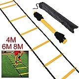 Yahee Fußball Koordinationsleiter Trainingsleiter, Ladder für Fußball 4M /6M /8M inkl. Tasche