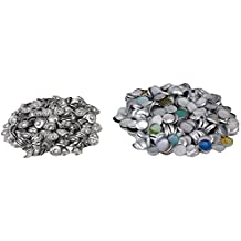 BQLZR–Lote de 500Bases de botones mochila plana de aluminio, tela para tapizar 16L plateado Bricolages, Silver, 36L
