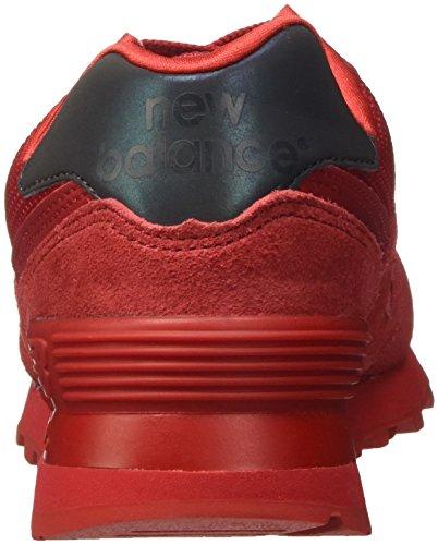 New Balance 574, Scarpe da Ginnastica Basse Donna Rosso (Red)