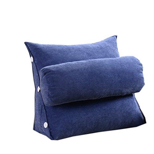 Dossier De Chevet Coussin de canapé triangle moderne Design ergonomique avec coussin de tête amovible Coussin de chevet Coussin de chaise à lèvres à lame de couleur pure 65 * 65cm (Couleur : A)