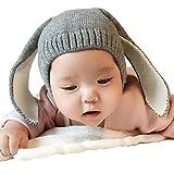 Xinantime Gorros Bebé,Xinan Niño Niña Invierno Sombrero Orejas de Conejo (Gris)