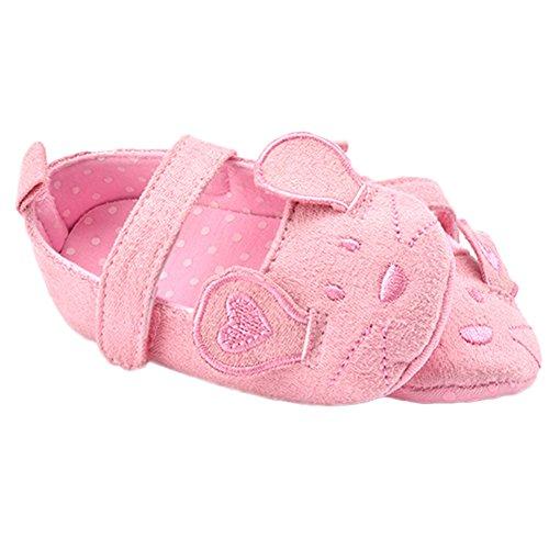 WAYLONGPLUS Baby-Jungen-Mädchen Prewalker Sommer Cartoon Babyschuhe Pink