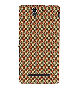 EPICCASE fruits&flowers Mobile Back Case Cover For Sony Xperia C3 (Designer Case)