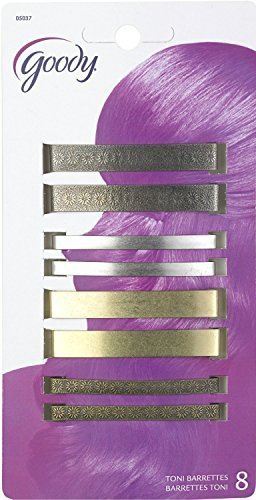 Goody Classics Metal Barettes, 2 3/8 Inches, - 2 Packs Of 8 Count = 16 Count by Goody Classics
