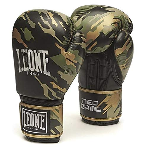 Leone1947 Boxhandschuhe Neo Camo - Camo Grün - Boxhandschuhe Boxen Kickboxen Sparring Muay Thai - Solide Boxhandschuhe mit Air Cool Innenhand im Camo Style (12 Unzen)