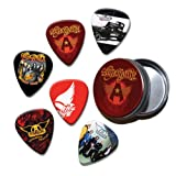 Aerosmith Set of 6 Loose Guitar Médiators in Tin ( Collection C )