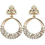 Shining Diva Fashion Stylish Fancy Party Wear Golden Gold Plated Earrings for Women
