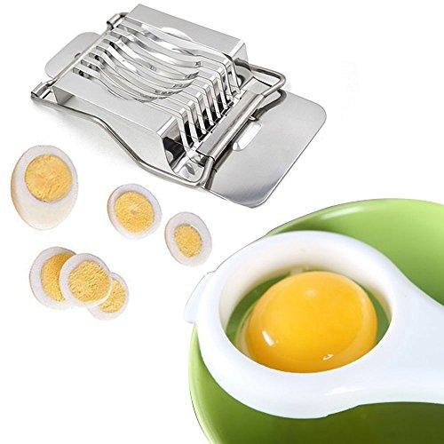 Vielseitig Eierschneider Edelstahl Eiweiß Eigelb Separator Teiler Küche Kunststoff