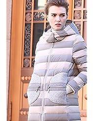 YRF Robes de l'hiver. Manteau long. Veste col rembourré. Blouses pour dames. Rembourrée coupe-vent
