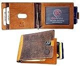 GoArtea®️ RFID Blocking Slim Bifold Genuine Leather Minimalistic Front Pocket Wallet for Men