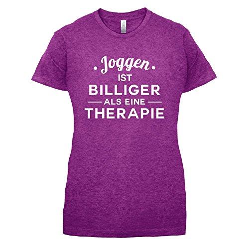 Joggen ist billiger als eine Therapie - Damen T-Shirt - 14 Farben Beere