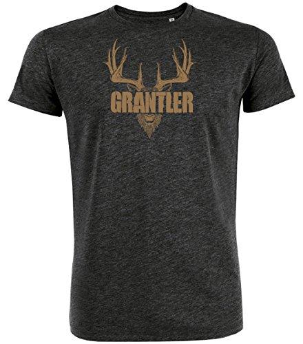 Datschi Trachten T-shirt GRANTLER, Bio Baumwolle, Trachtenshirt Oktoberfest Bayrisch (XL, (T Trachten Shirt Herren)