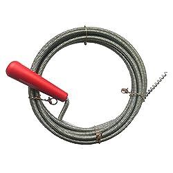 Rohrreinigungsspirale Ø 6mm x 3m mit Bohrspitze, extra dünne Abfluss-Spirale