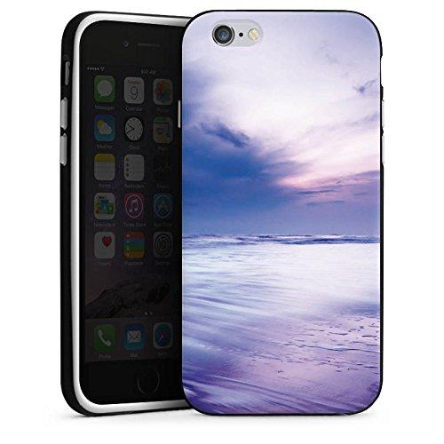 Apple iPhone X Silikon Hülle Case Schutzhülle Lila Wolken Ozean Silikon Case schwarz / weiß
