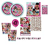 LOL Surprise Party Ware Pack for 16 + Complimentary Banner, stickers, balloons Pusheen Gift Wrap