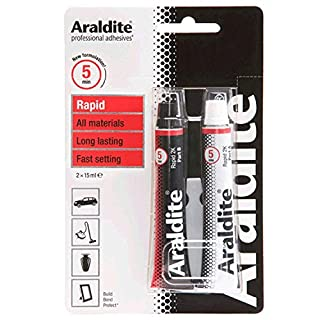 ARALDITE® ARA-400005 Araldite Rapid 2-Part Epoxy Adhesive Glue Tubes Opaque 2 x 15ml