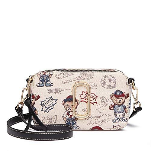 Eoun Handtasche Damen Shopper,One Stop Solution for Sourcing,Koreanische Version der Schultertasche für Wilde Mädchen, Meter schwarz (Stimmung Meter)
