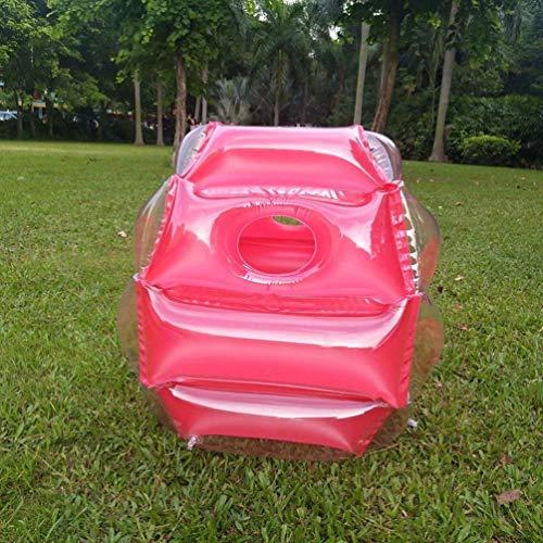 Oyamihin 60cm aufblasbare Blasen-Puffer-Bälle-Zusammenstoßkörper-Stoßkugel-lustige Tätigkeit im Freien laufendes Spiel für Kinder Erwachsene - Rot