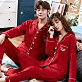 Kllomm Paar Pyjamas Frauen mit Langen Ärmeln Frühling und Herbst Baumwolle...