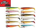 Fox Rage Set - 12 Pro Shad Natural Classic II Gummifische 14cm, Kunstköder zum Hechtangeln, Shads zum Raubfischangeln, Hechtköder , Gummifisch