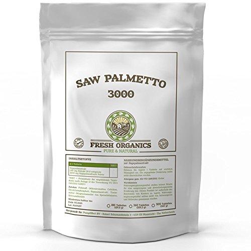 Östrogen-blocker (Saw Palmetto | Sägepalmextrakt | 180 Tabletten (vegan) á 3000mg | Für 180 Tage