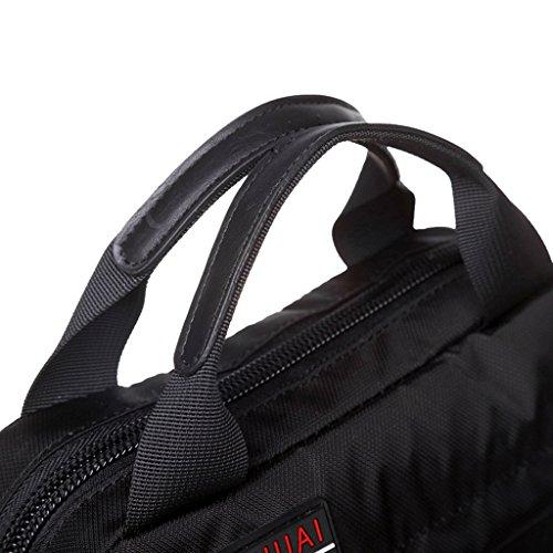 Supa Moden Men nylon borsa messenger a tracolla organizzatore cartella da escursionismo confezione multi-pocket Sling borsa a tracolla, Uomo, Green Black