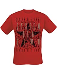 System Of A Down World Star T-shirt rouge