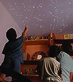 Kit di 270 STELLE fluorescenti, STAMPINO di oltre 2 m². ESATTA RIPRODUZIONE DEL CIELO NOTTURNO + MAP con indicazioni. Per un soffitto o un muro.