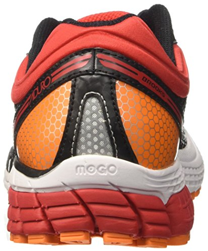 Brooks Aduro 4, Chaussures de Course Homme Multicolore (Black/high Risk Red/vibrant Orange)