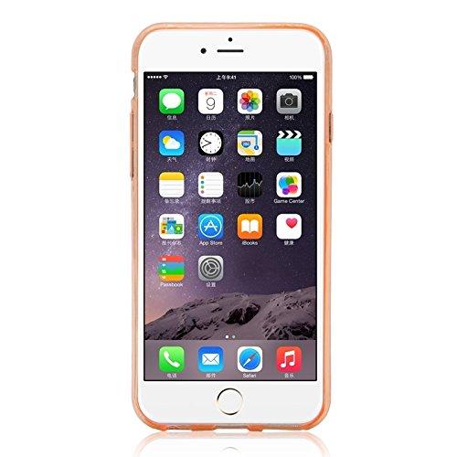 Wkae Case & Cover les cas de fente pour carte tpur ultraminces pour iphone 6 plus &6s et ( Color : Grey ) Orange