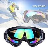 JTENG skibrille Sportbrille Motorrad Goggle Motocross Wind Staubschutz Fliegerbrille Snowboardbrille Schneebrille Skibrille Wintersport Brille Dirtbike Off-Road Schutzbrille Radsportbrille