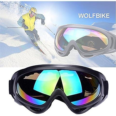 Gafas de esquí al aire libre JTENG Gafas de protección UV ajustable portable de la motocicleta de los anteojos Gafas a prueba de polvo Gafas protectoras de combate Jugar gafas protectoras