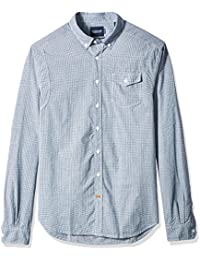 Scotch & Soda Lightweight Brushed Flannel Shirt with Workwear Elements, Camisa Manga Larga para Hombre