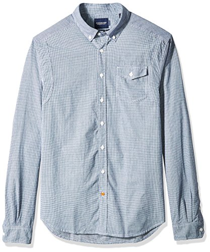 Scotch & Soda Herren Langarmshirt Lightweight Brushed Flannel Shirt With Workwear Elements Combo B (18)