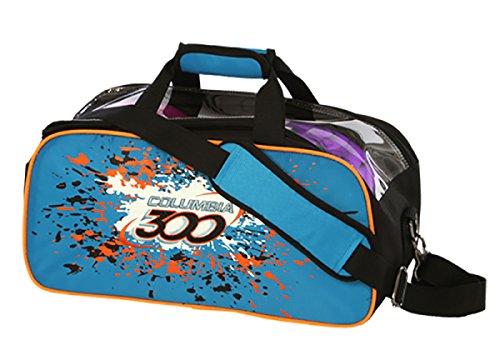 Columbia 300 C300 Team Double Bowling Tasche für 2 Bälle blau/orange