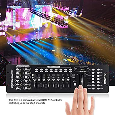 DMX Controller, 192 DMX Channels Stage Light Controller School Concerts Party Disco KTV Club 220-240V UK Plug?48.2 × 13.4 × 3.9cm