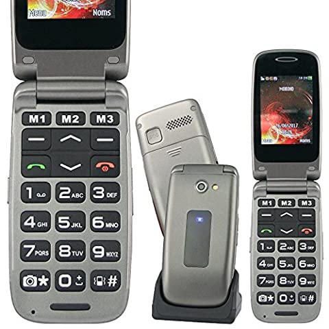 Mobiho Essentiel Le CLAP FACILE 4 Rumba Bronze - Sénior - Un appareil clapet très beau design, complet avec photo, vidéo, Bluetooth - 10 contacts photos - Raccourci vers 10 menus les plus utilisés - 11 Raccourcis d
