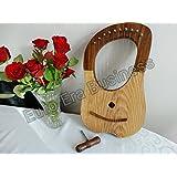 10 con cuerdas de Arpa de madera de palisandro de sintonización con llave de marcha y