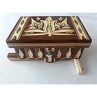 Scatola di gioielli scatola di puzzle magico marrone tesoro mistero segreto vano di stoccaggio scatola di legno decorazioni per la casa rompicapo