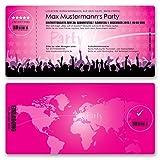 (40 x) Einladungskarten Geburtstag Eintrittskarte Party Ticket Einladungen Mädchen