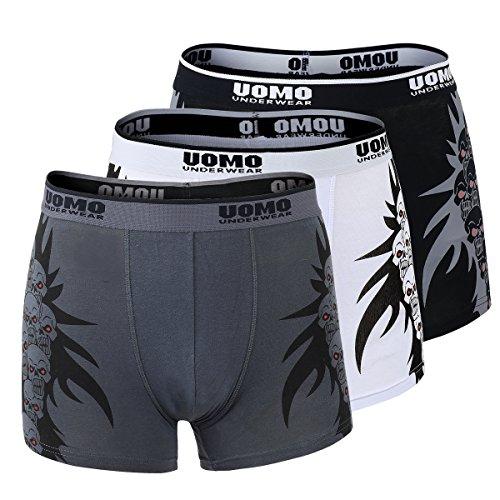 Unbekannt 3er Pack Hombres Calzoncillos Bóxer Pantalones Ropa...