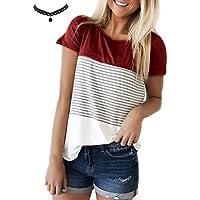 UUAISSO Mujeres Camisetas T Shirt Manga Corta Labios Túnica Casual Blusas Camisas Tops
