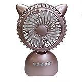 Unbekannt Mini Fan 2 In 1 Tragbare Drahtlose Bluetooth Outdoor Super Stereo Lautsprecher,Pink
