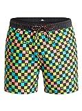 Quiksilver Mini Check 15' - Swim Shorts - Short de Volley - Homme - XL - Noir
