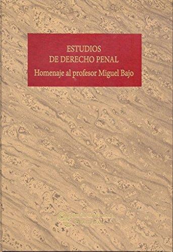 Estudios de Derecho Penal (Grandes Obras Jurídicas)