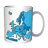 Mapa De Nueva Europa Con Tonos Azules 330 ml taza h660