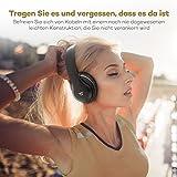 TaoTronics Bluetooth Kopfhörer Over Ear Headset mit leichtem Rückstellschaum Ohrpolster & Dual 40mm Treiber, 15 Stunden Spielzeit, EQ Bass, 3,5 mm AUX, On-Ear Steuerung - 1