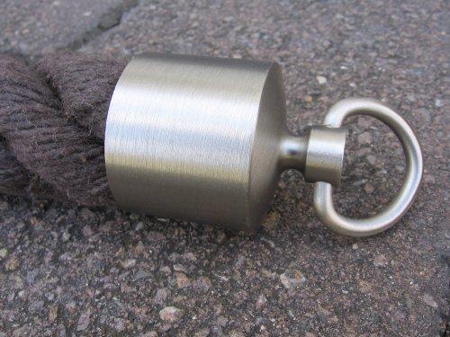 Seilendkappe mit Ring Nickel matt für 40mm Handlaufseil